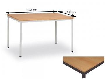 Jídelní stůl 120x60 cm, nohy hnědé / deska buk