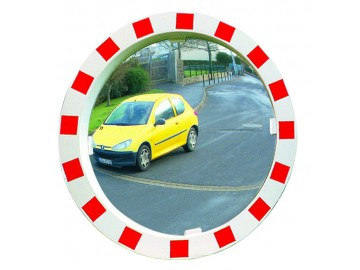 Dopravní zrcadlo v červenobílém rámu, Polymir 546, 600 mm