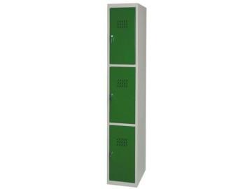 Kovová šatní skříň NP-1053, 3 boxy
