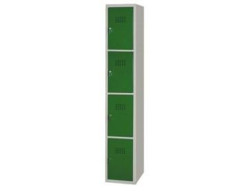 Kovová šatní skříň NP-1054, 4 boxy
