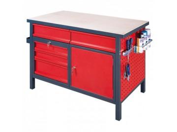Dílenský pracovní stůl NP3110 1200x600, 5 x zásuvka, 1 skříňka