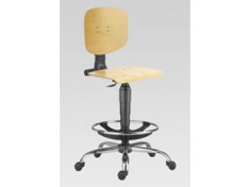 Dílenská židle s bukovou překližkou 1290 L MEK