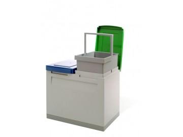 Odpadkový koš na tříděný odpad EM 2x15 l
