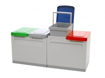 Odpadkový koš na tříděný odpad EM 4x15 l