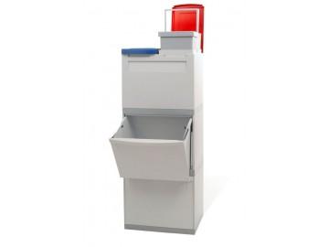 Odpadkový koš na tříděný odpad EM 2x30 l + 2x15 l