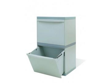 Odpadkový koš na tříděný odpad EM 2x30 l