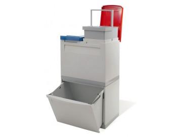 Odpadkový koš na tříděný odpad EM 1x30 l + 2x15 l