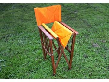 DIVERO dřevěná skládací židle, oranžová