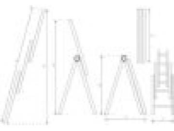 Hliníkový žebřík, 3 x 11 příček