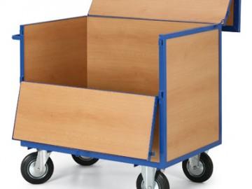 Skříňový vozík, uzamykatelná bedna