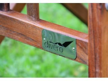 DIVERO dřevěná skládací zahradní židle