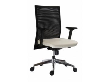 Moderní pracovní židle 1700 SYN René Net Alu