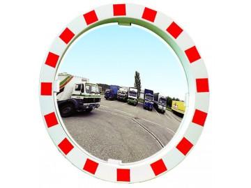 Dopravní zrcadlo v červenobílém rámu, Polymir 548