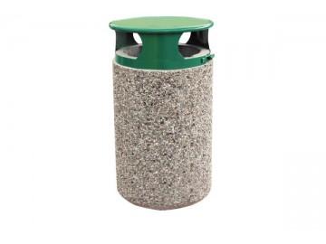 Betonový odpadkový koš z vymývaného betonu