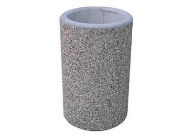Betonový odpadkový koš z vymývaného betonu BIG