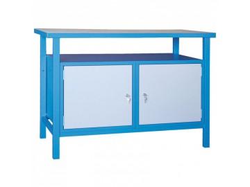Dílenský pracovní stůl NP350 1200x600, 2 x skříňka