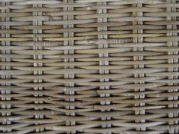 DAISY ratanový stůl - šedivý ratan