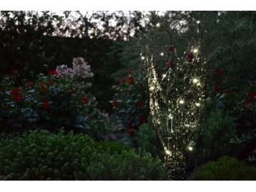 Dekorativní LED osvětlení s ozdobnými kamínky - teple bílá