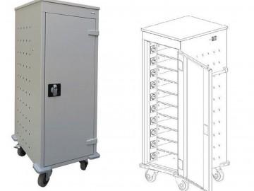 Pojízdý kovový vozík WNL 110 s 10 boxy