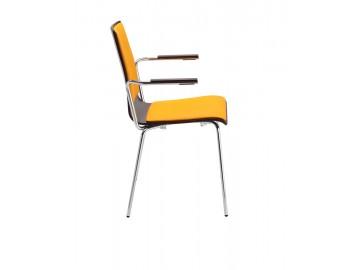 CAFE VII  B-Plus Arm, chrom- kavárenská židle