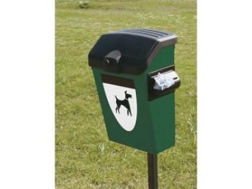 Odpadkový koš na psí exkrementy DOG 38, se zásobníkem 25 l