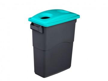 Odpadkový koš na tříděný odpad ECOSORT, 60 l