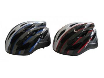 Cyklistická helma červená/modrá velikost M