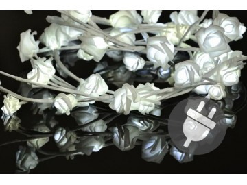 Dekorativní LED osvětlení - růže - 48 LED, studená bílá