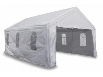 Zahradní párty stan 4 x 6 m bílý se stranovými díly 180g/m² PE