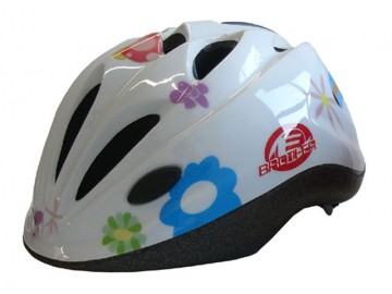 Cyklistická dětská helma bílá s potiskem velikost M