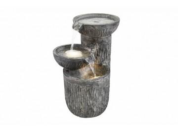 Zahradní fontána kašna - Tři misky s osvětlením