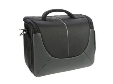 Brašna Doerr  YUMA XL (25x20x11,5 cm, SLR+3O+B, pláštěnka, černá/stříbrná)