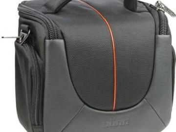 Brašna Doerr  YUMA S (10x12x7 cm, MiniCAM/UltraZOOM, černá/oranžová)