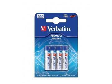 Baterie Verbatim Alkalické AAA 4ks