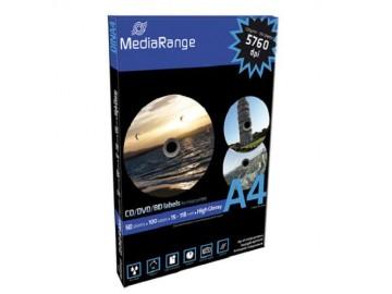 Etikety MediaRange 15mm - 118mm 50 listů(100 etiket) High-Glossy