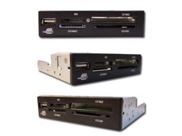 Čtečka Eurocase EC čtečka karet All in one s USB, Audio, (xD,SDHC) black