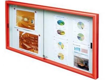 Vitrína Klasik s posuvnými dveřmi, 12 x A4