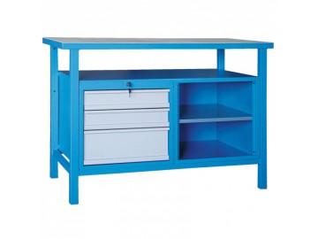 Dílenský pracovní stůl NP370 1200x600, 3 x zásuvka