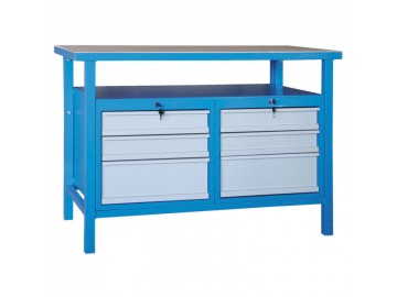 Dílenský pracovní stůl NP3130 1200x600, 2x3 zásuvky