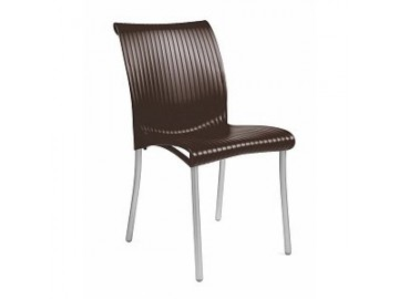 Stohovatelná plastová židle REGINA OUT, nosnost 120 kg