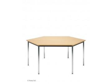 Konferenční stůl SIMPLE, šestiúhelník,  1600 x 800 x 800 mm