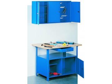 Dílenský pracovní stůl STW 121 1200x600, 1 skříňka