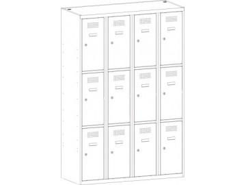Kovová šatní skříň SUS 343 W