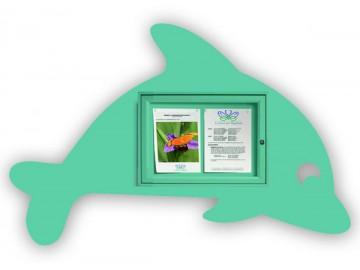 Vitrína s motivem delfína