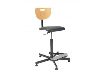 Dílenská židle Werek+ opěradlo na nohy