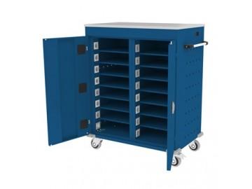 Pojízdný kovový vozík WNL 208 s 16 boxy
