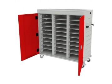 Pojízdný kovový vozík WNL 310 s 30 boxy