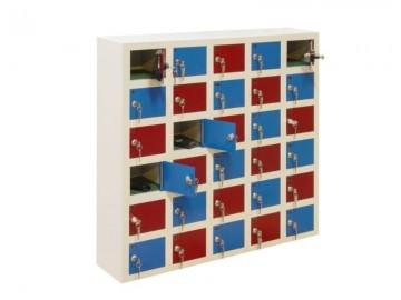 Kovová skříň s 10 boxy WSS 10