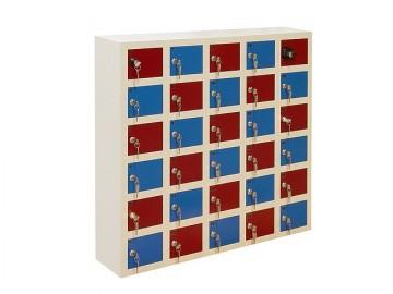 Kovová skříň s 35 boxy WSS 35