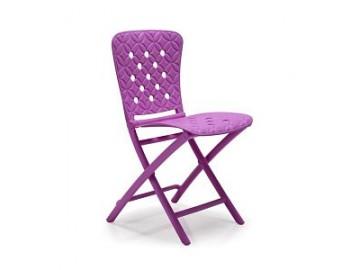 Skládací plastová židle ZAG SPRING, nosnost 110 kg